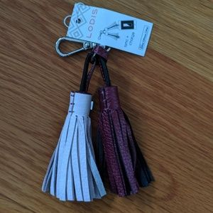 Sara Tassel Key Fob with Charging Cable